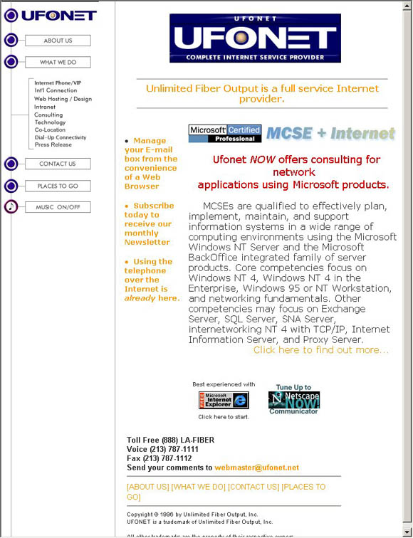 Unlimited Fiber Output Home Page